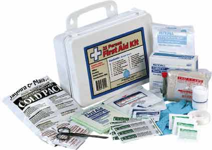 83 piece OSHA approved first aid medical kit