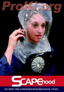 Scape Biochemical escape hood mask system for 3yrs to adult