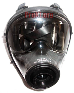 SGE 150 gas mask features a drinking system and full polycarbonate face shield